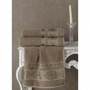 Полотенце Rebeka, размер 50 х 90 см, цвет кофейный