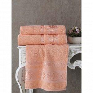 Полотенце Rebeka, размер 50 х 90 см, цвет абрикосовый
