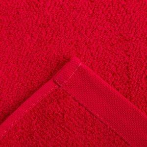 Полотенце махровое Этель «Терри» 70x140 см, красный