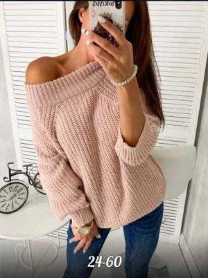 Свитер Стильный свитер на 1 плечо, размер единый на 42-48, не маломерит
