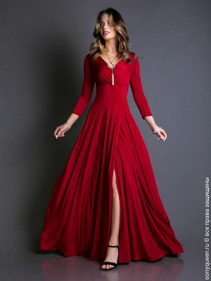 Платье Вечернее платье с V-образным вырезом. Свободная, летящая юбка в пол с запАхом. Рукав 3/4. Полностью двойной лиф и пояс. Запах на лифе плотно прилегает - булавки не нужны. Спинка с вырезом, кото