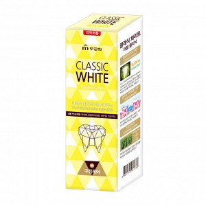 Зубная паста «Classic White» отбеливающая двойного действия с микрогранулами с ароматом мяты и ментола (коробка) 110 г / 40