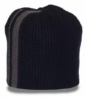 Шапка Стильная вязаная шапка из теплого материала - надежно согреет в любую погоду №3909