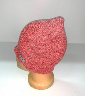 Шапка Брендовая розовая шапка  №1699