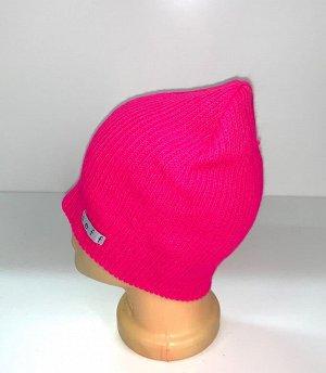 Шапка Розовая молодежная шапка  №1696