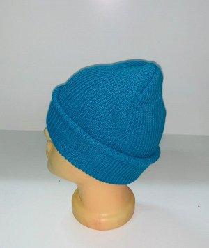 Шапка Стильная шапка синего цвета  №1694