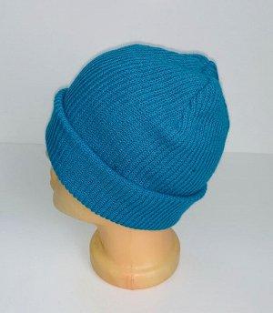 Шапка Лаконичная голубая шапка  №4093