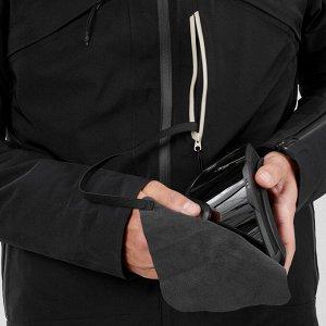 Куртка лыжная для трассового катания мужская черная 980 wedze
