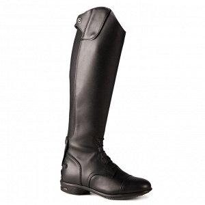 Сапоги кожаные для верховой езды для взрослых 900 JUMP SECOND CHOIX икра S FOUGANZA