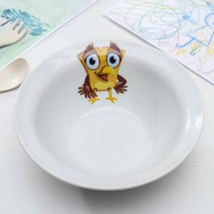 Миска «Радужные птички», 550 мл, 17 см, рисунок МИКС