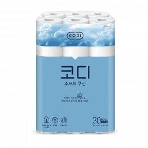"""Ультрамягкая туалетная бумага """"CODI - Soft cushion"""" (трехслойная, с тиснёным рисунком)"""