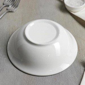 Тарелка глубокая White Label, 17,5?5,5 см, цвет белый