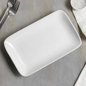 Блюдо прямоугольное White Label, 25,5?15,5?3,5 см, цвет белый