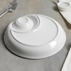 Блюдо с соусником White Label, 25 см, цвет белый