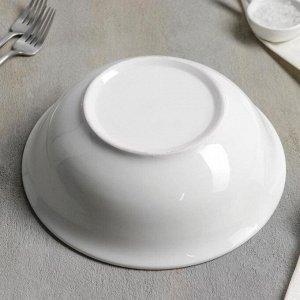 Тарелка глубокая White Label, 1500 мл, 22,5?22,5?7 см, цвет белый