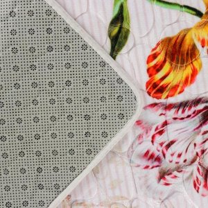 Набор ковриков для ванны и туалета «Тюльпаны на гальке», 2 шт: 50?80, 49?40 см