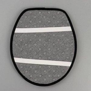 Набор ковриков для ванны и туалета «Плитка», 3 шт: 50?80, 50?40, 43?38 см