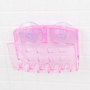 Держатель для мочалки на присосках Bath Collection, 9?5?6 см, цвет МИКС