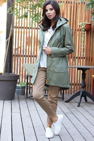 Куртка Куртка Мода Юрс 2576 хаки  Состав ткани: ПЭ-100%;  Рост: 164 см.  Куртка-парка является базовой вещью гардероба в стиле casual. Представленная модель классического кроя с множеством подрезов и