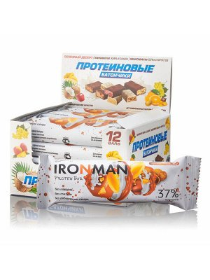 Protein Bar IRONMAN (Glasure Free) без сахара 50 грамм