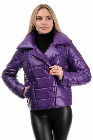Демисезонная куртка «Глория», р-ры 42-46, №289 фиолет
