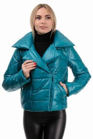 Демисезонная куртка «Глория», р-ры 42-46, №289 бирюза