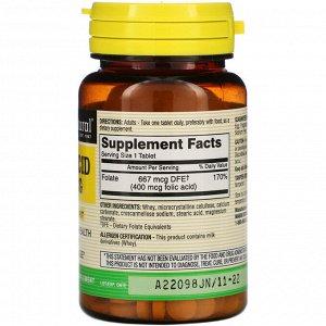 Mason Natural, Folic Acid, 400 mcg, 100 Tablets