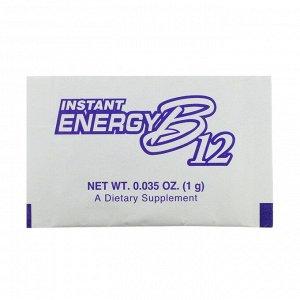 Now Foods, мгновенный прилив энергии B12, 2000 мкг, 75 пакетиков по 1 г