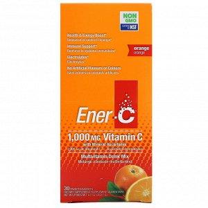 Ener-C, Витамин C, смесь для приготовления мультивитаминного напитка со вкусом апельсина, 30 пакетиков, 260,1 г (9,2 унции) в каждом