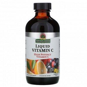 Nature&#x27 - s Answer, Liquid Vitamin C, Natural Lemon Flavor, 8 fl oz (240 ml)