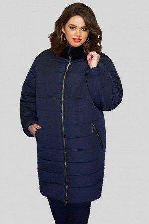 Куртка женская зимняя Натэлла 01 (60-72) темно-синяя