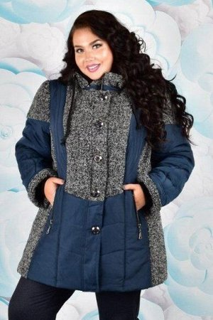 Куртка женская зимняя Стелла 001 (60-72) синяя