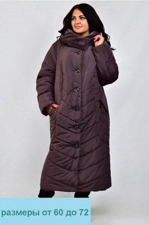 Куртка женская зимняя Оксана (60-72) шоколад