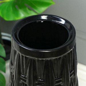 """Ваза напольная """"Корзинка"""". керамика. черная. 72 см"""