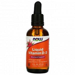 Now Foods, Liquid Vitamin D-3, 2 fl oz (59 ml)