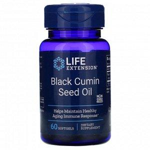Life Extension, Масло семян черного тмина, 60 жевательных капсул