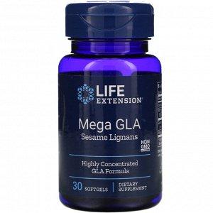 Life Extension, Mega GLA Sesame Lignans, 30 Softgels