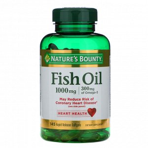 Nature&#x27 - s Bounty, Fish Oil, 1,000 mg, 145 Rapid Release Softgels