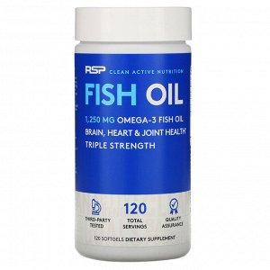 RSP Nutrition, Рыбий жир, 120 мягких таблеток
