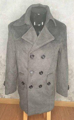 Пальто СКИДКА 50%.  Шерсть 60% полиэстер 27%  хлопок 13 %  Теплое, уютное пальто темно-серого цвета)) Возможна примерка - оплачиваете, получаете, примеряете. Если не подошло/не понравилось - возвращае