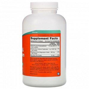 Now Foods, Кальций и магний, с витамином D-3 и цинком, 240 мягких таблеток