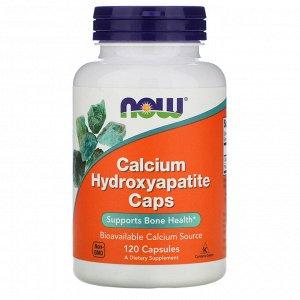 Now Foods, Гидроксиапатит кальция в капсулах, 120 капсул