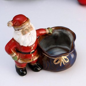 "Кашпо фигурное ""Дед Мороз"", 20*12*17см"