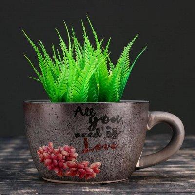 🌷 Кашпо, горшки, грунт - всё для домашних цветов и сада 🌷 — Кашпо из керамики до 2 л — Кашпо и горшки