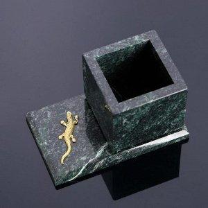 """Горшок для цветов """"Суккулент"""", на подставке с магнитами, змеевик, 7,5х12,5х7,5 см"""