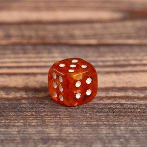 """Сувенир """"Кубик"""", 1,5 см, янтарь"""