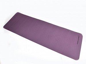Коврик для йоги TPE  183*61*06 см 2-х слойный фиолетово-розовый