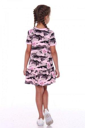 Платье Ткань: Кулирка с лайкрой Состав: Хлопок 93%; лайкра 7%