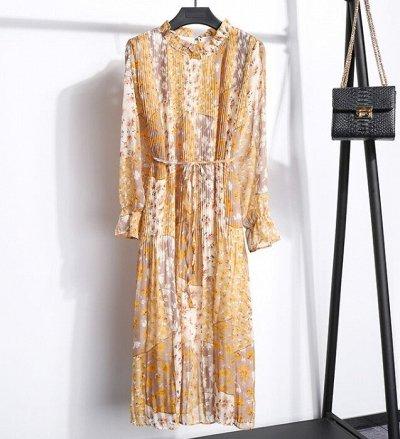 Шифоновые и Трикотажные платья🤩 / Выгодные цены — Шифоновые платья — Миди-платья