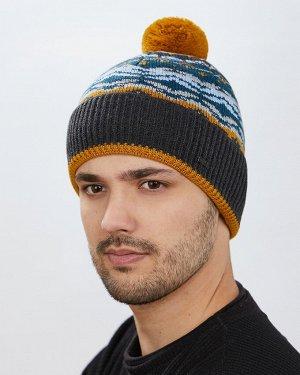 Шапка Шапка. Размер: 57-59. Отворот: шапка с отворотом. Состав: 30% шерсть 70% акрил. Подклад: полный флис. Помпон: трикотажный помпон. Толщина: шапка толстая
